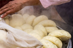 Steamed dumpling(salapao) hot from the oven in the morning at ma Royalty Free Stock Images
