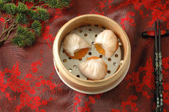 Steamed dumpling. Steamed shrimp dumpling with bamboo shoot Royalty Free Stock Photography