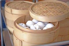 Steamed dumpling in Steamer Royalty Free Stock Image