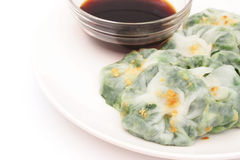 Steamed  dumpling stuff with garlic chives Royalty Free Stock Photo