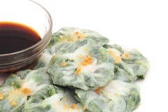 Steamed  dumpling stuff with garlic chives Royalty Free Stock Photos
