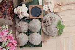 Steamed dumpling stuffed with taro is delicious. Stock Image