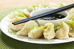 Free Steamed Dumplings And Soy Sauce Royalty Free Stock Images - 13138009