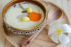 Steamed Egg On Wood Background Royalty Free Stock Photo