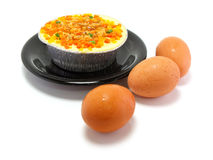 Steamed eggs Royalty Free Stock Photo