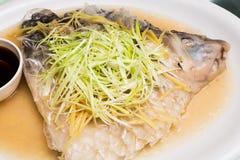 Steamed Empurau Fish Dish Stock Photography