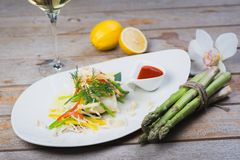 Steamed Fillet Of Sea Bass Royalty Free Stock Photo