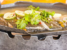 Steamed fish Royalty Free Stock Images