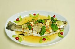 Steamed fish Stock Photos