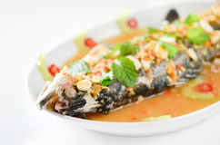 Steamed fish Stock Photo