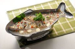 Steamed fish asia style Stock Photography
