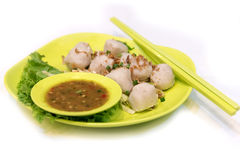 Steamed fish balls royalty free stock images