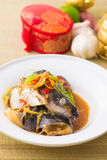 Steamed Fish chinese malaysian style Royalty Free Stock Image