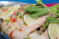 Steamed fish, Chinese style steamed fish Royalty Free Stock Photo