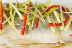 Cantonese Steamed Fish Royalty Free Stock Photos