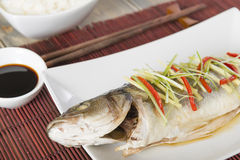 Cantonese Steamed Fish Stock Images