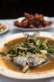 Steamed fish chinese style Royalty Free Stock Image