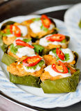 Steamed fish with curry paste Stock Photography