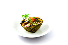 Steamed fish with curry paste. Is one type of Thai food Stock Photography