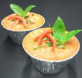 Steamed fish with curry paste. Thai food Royalty Free Stock Photo