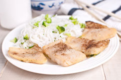 Steamed fish fillet pieces Stock Photos