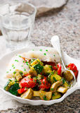 Steamed fish  fillet  with Vegetables Stock Image