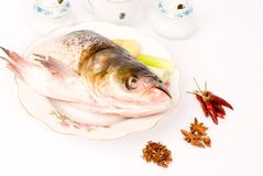 Steamed Fish Head ,Chinese food Royalty Free Stock Image