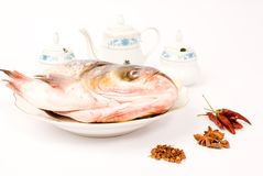 Steamed Fish Head ,Chinese food Stock Photos