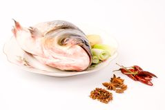 Steamed Fish Head ,Chinese food Stock Photography
