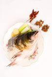 Steamed Fish Head ,Chinese food Royalty Free Stock Photography