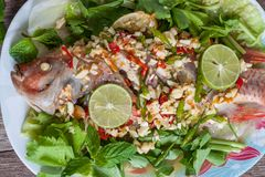 Steamed fish with lemon. Stock Photography