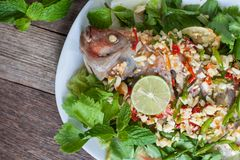 Steamed fish with lemon. Stock Photo