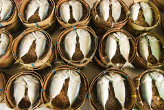 Steamed fish at market Royalty Free Stock Photography