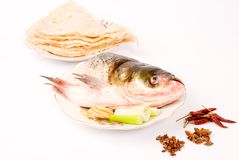 Steamed fish and pancake,Chinese food Royalty Free Stock Images
