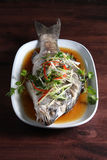 Steamed fish soy sauce Stock Images