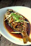 Steamed fish Stock Photography