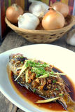 Steamed fish Royalty Free Stock Photos