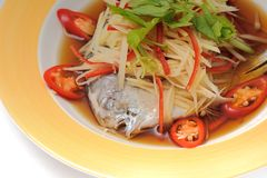 Steamed Fish with Soy Sauce Royalty Free Stock Photography