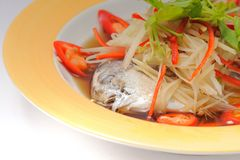 Steamed Fish with Soy Sauce Stock Images