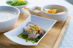 Steamed fish Stock Images