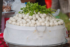 Steamed fishball stock images