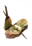 Steamed Flour with Coconut Filling. Kanom Sai Sai Stock Photography