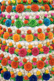 Steamed flower buns Stock Photos