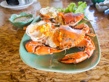 Steamed fresh crab Royalty Free Stock Photo