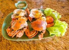 Steamed fresh crab Royalty Free Stock Photos