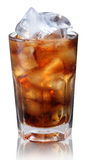 Steamed glass with cold cola Royalty Free Stock Image