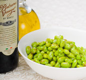 Steamed green beans ialian style Royalty Free Stock Photography