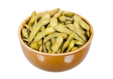 Steamed green soybean Royalty Free Stock Image