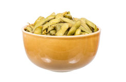 Steamed green soybean Stock Image