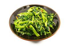Steamed Green Vegetables Stock Photos